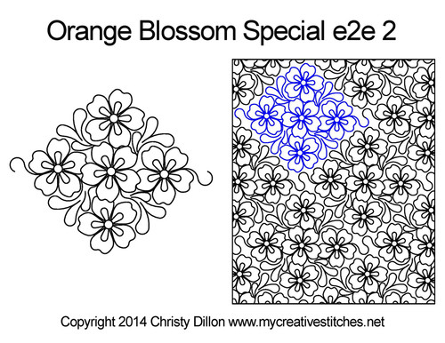 Orange blossom special e2e 2 quilt pattern