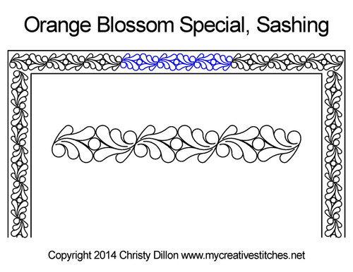 Orange blossom special sashing quilt pattern