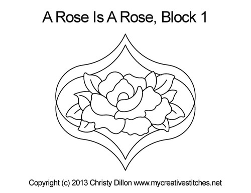 A rose is rose block quilt pattern