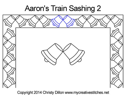 Aaron's train digital sashing 2 quilt pattern