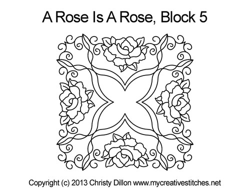 A Rose Is A Rose Block 5