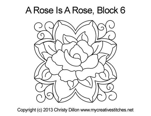 A rose is rose square block quilt design