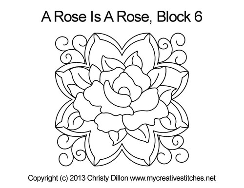 A rose is rose square block quilt design