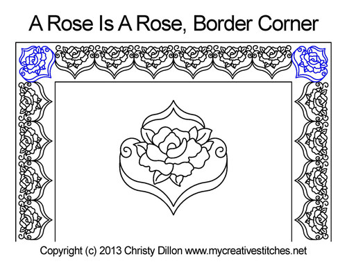 A rose is rose border corner quilt design