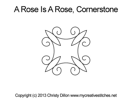 A rose is a rose cornerstone quilt design