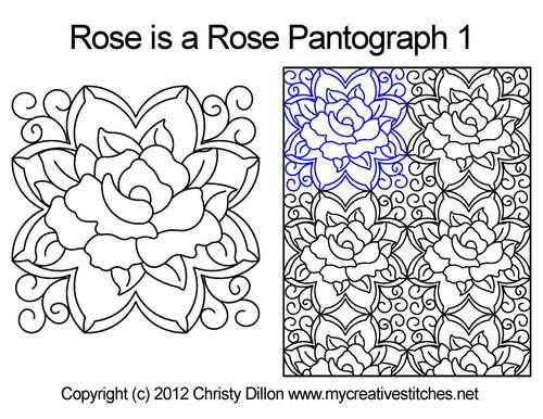 A Rose is a rose digital pantograph 1