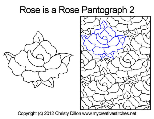 Rose is a rose pantographs 2 quilting