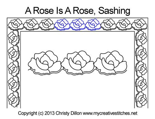 A rose is rose sashing quilt pattern