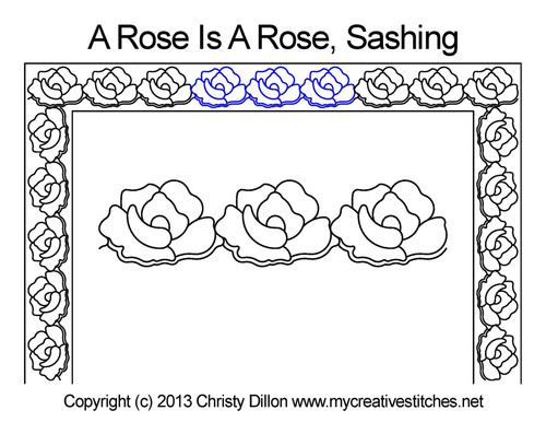 A rose is rose sashing quilt pattern