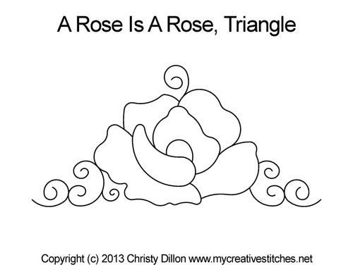 A rose is rose triangle quilt pattern