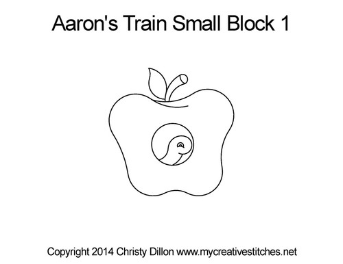Aaron's train small block 1 quilt pattern