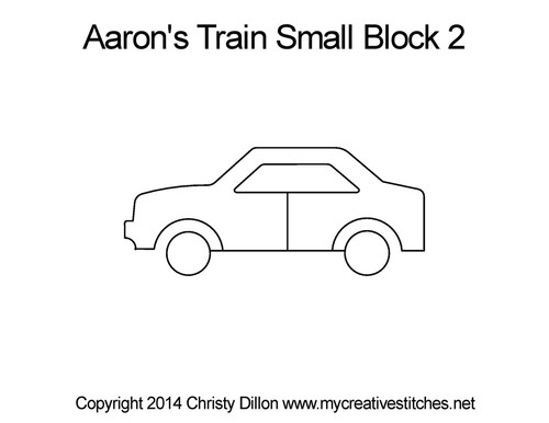 Aaron's train small block 2 quilt pattern