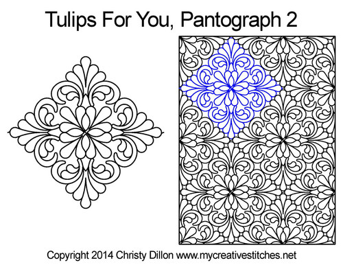 Tulips for you long arm pantographs 2