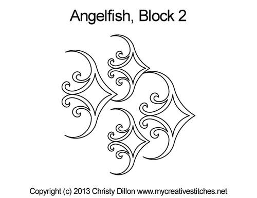 Angelfish quilting designs for blocks 2