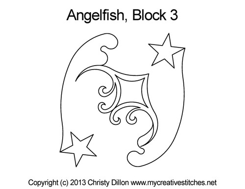 Angelfish quilting designs for blocks 3