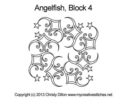 Anglefish block 4 quilting designs