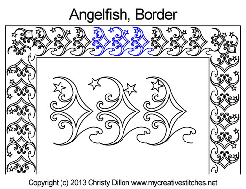Angelfish border quilting patterns