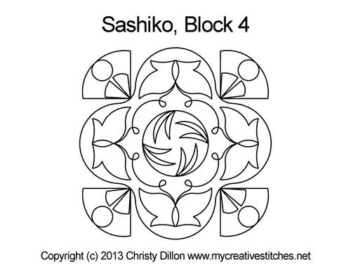 Sashiko Block 4