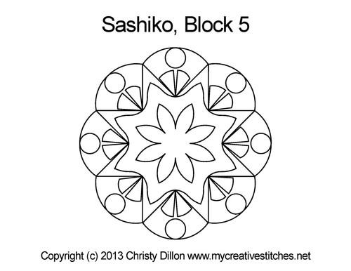 Sashiko Block 5