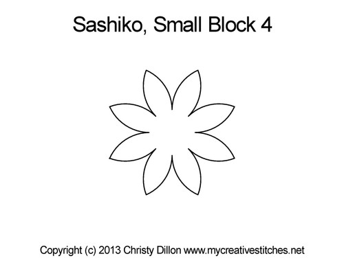 Sashiko small star block 4 quilt pattern