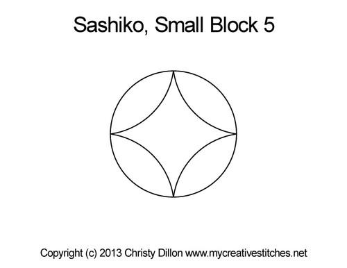 Sashiko small block 5 quilting design
