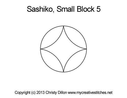 Sashiko small block 5 quilting design