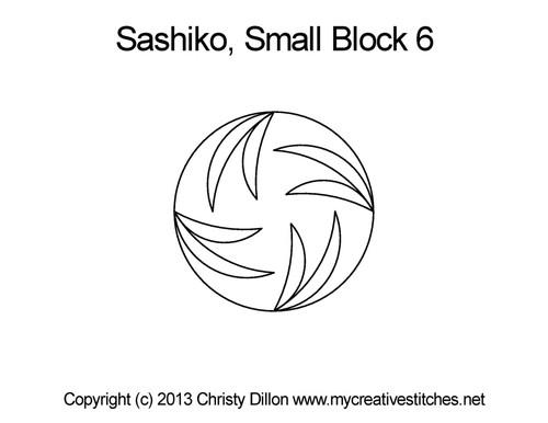 Sashiko small round block 6 quilt pattern