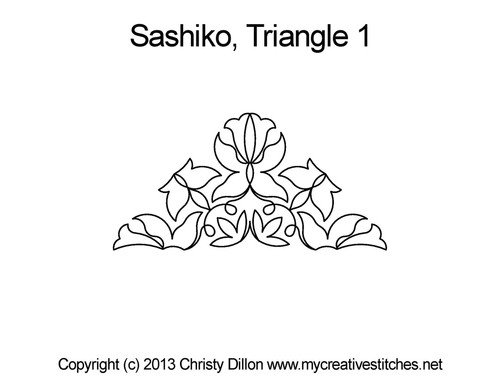 Sashiko triangle 1 quilting pattern