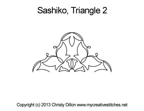 Sashiko quilting patterns for triangle 2
