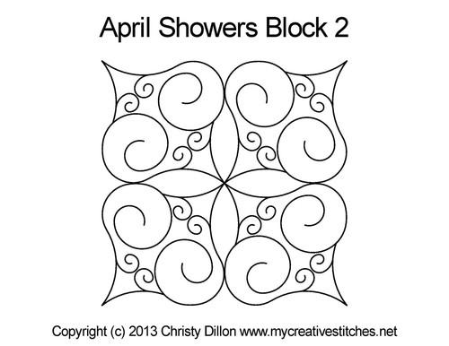 April showers square block 2 quilt pattern