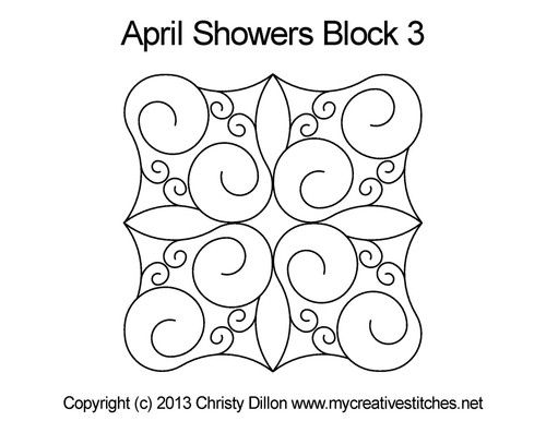 April showers square block 3 quilt pattern
