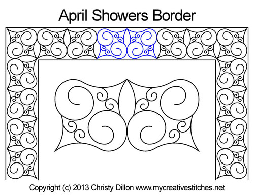 April showers border quilting design