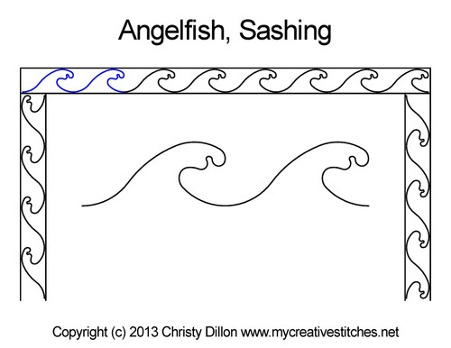 Angelfish sashing quilt pattern
