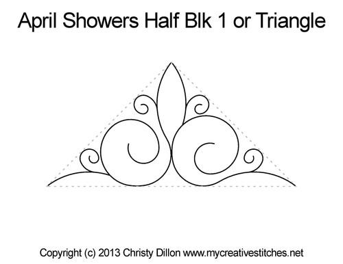 April showers half block triangle quilt pattern
