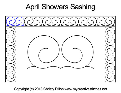 April showers sashing quilting design