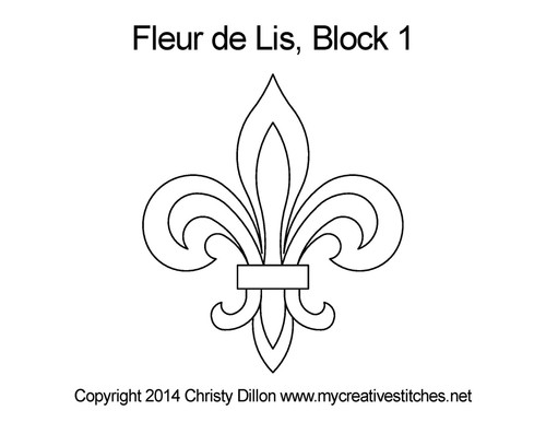 Fleur de lis block 1 quilting patterns
