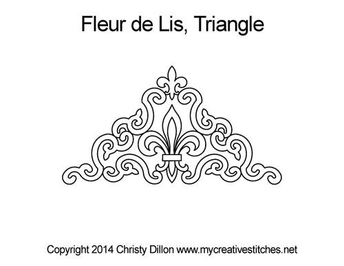 Fleur de lis triangle quilting design