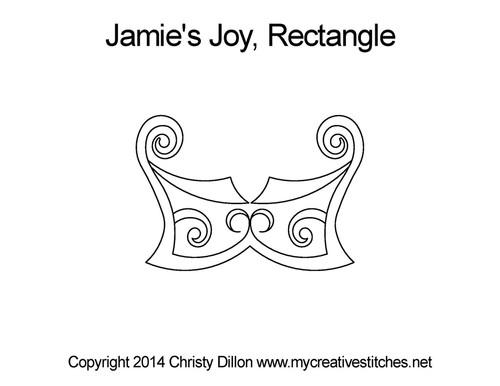 Jamie's joy rectangle quilting pattern