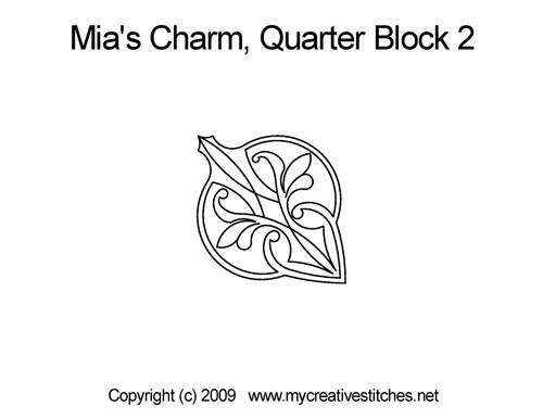 Mai's charm quarter block 2 quilt designs