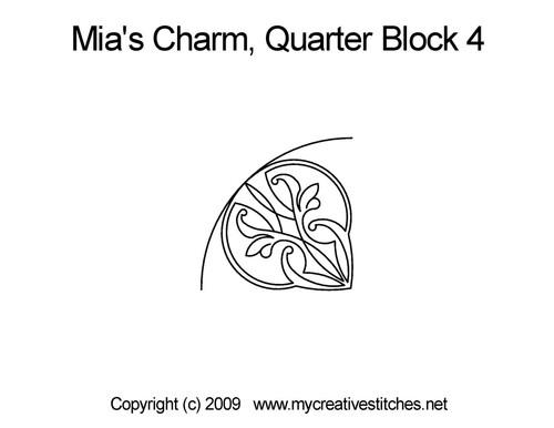 Mai's charm quarter block 4 quilt pattern