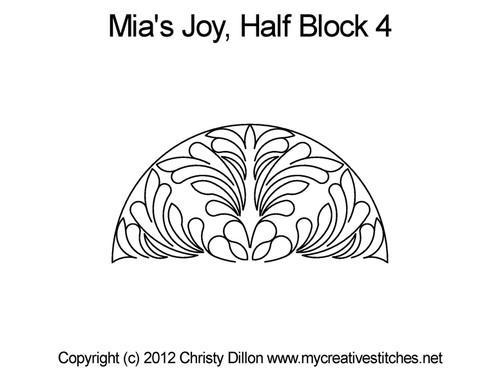 Mia's Joy Half Block 4