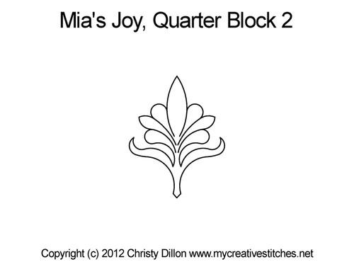 Mia's joy quarter block 2 quilting pattern
