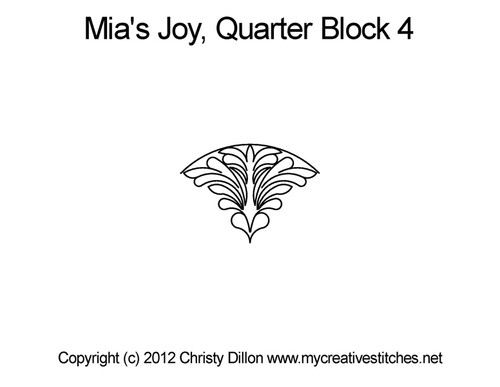 Mia's joy quarter block 4 quilting pattern