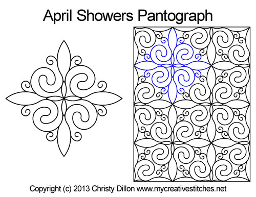 April showers long arm pantographs