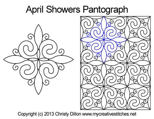 April showers long arm pantographs