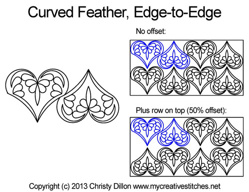 Curved Feather Edge-to-Edge