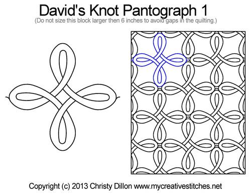 David's knot long arm quilting pantograph 1