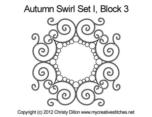 Autumn Swirl Set I Block 3