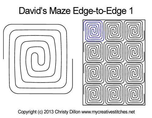 David's maze edge to edge 1 quilt pattern