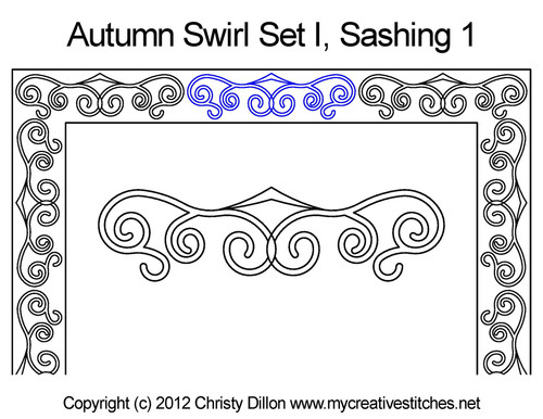 Autumn Swirl Set I Sashing 1